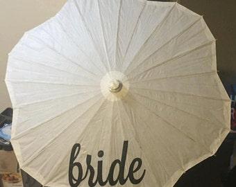 "Bride Wedding 32"" White Paper Parasol Umbrella"