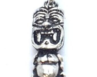Friki Tiki Statue Charm For Bracelet .925 Sterling Silver