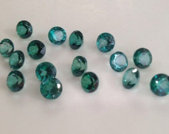 6.10cts Green Topaz Round5X5mm Lot of 10pcs