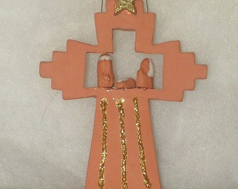 Cross Nativity Ornament