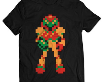 Metroid Samus NES Men's T-shirt
