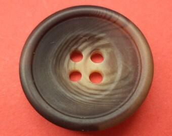 9 dark brown buttons 21mm (4337) button Brown