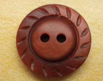 10 Brown buttons 18mm (6093) button
