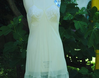 Pale yellow nylon babydoll 1940 T:32 (US)