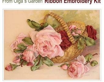 From Olga Garden Ribbon Embroidery Kit