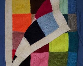 Rainbow crib blanket