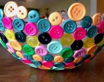 Colorful Button Bowl