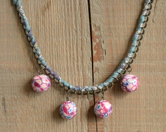 Necklace beads polymer clay (fimo)