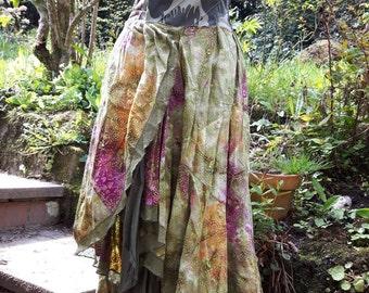 Full length strapless festival fairy dress