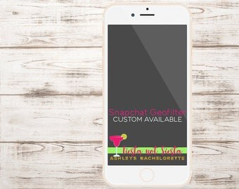 Custom Snapchat Geofilter, Fiesta not Siesta Bachelorette PARTY, Birthday or Engagement Party Snapchat Geofilter