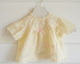 Vintage Baby Yellow Floral Dress Styled By Cradle Togs / ITEM651