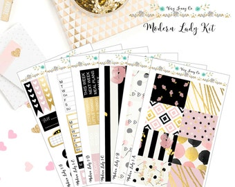 Modern Lady Planner Sticker Kit/ Weekly Stickers / Functional stickers / Stickers