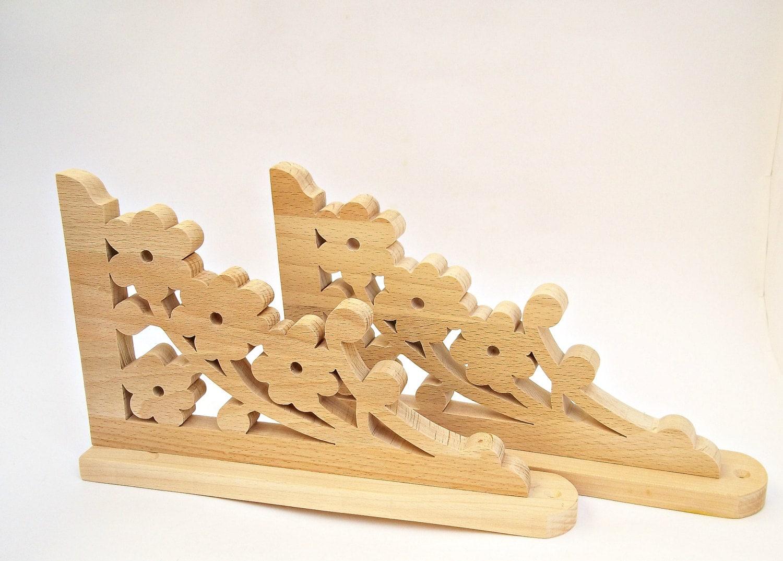wooden shelf brackets wood shelf brackets by woodengiftscreations. Black Bedroom Furniture Sets. Home Design Ideas