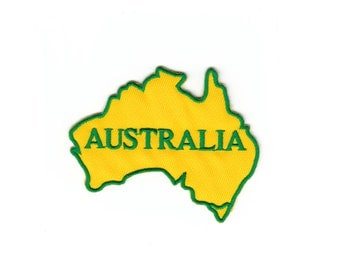 Vest Flag Australia Map Kangaroo Koalas Military Alphabet Embroidered Sew Iron On Patches Patch Appliques  Dealer Biker For Jackets  Jeans
