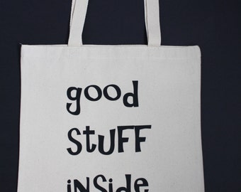 Good Stuff Inside canvas tote