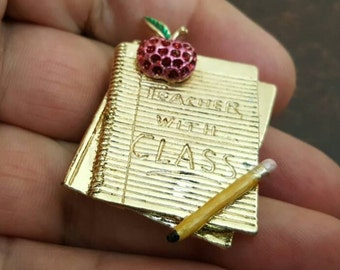 VINTAGE very nice teacher  pin Brooch  /zm1