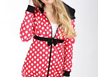 """MEKO """"Softy"""" soft shell jacket red points ladies"""