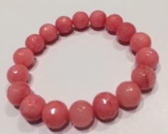 Peach agate bracelet