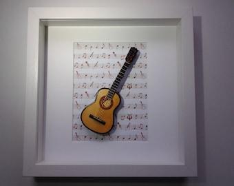 Wall art  guitar 3D
