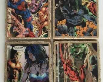 Justice League Coasters/ DC Comics/ supehero coasters