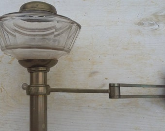 Vintage French Brass Sconce Wall Sconce Swing Arm