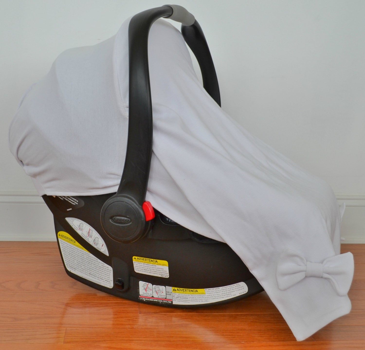 Infant Car Seat Cover White