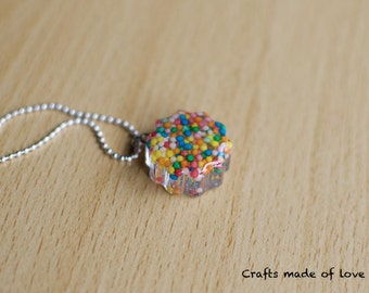 Small cloud shaped sprinkles pendant