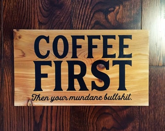 Coffee gifts sign, painted wooden sign, coffee lover gifts, gifts for mom, rustic gifts for friends, real wooden sign, coffee shop decor