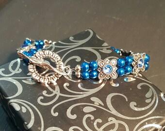 Vibrant blue bracelet