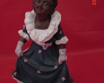 Antique Bisque Gebruder Heubach Black Pickaninny Girl Figure, Excellent cond