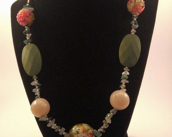 Green & Copper Necklace