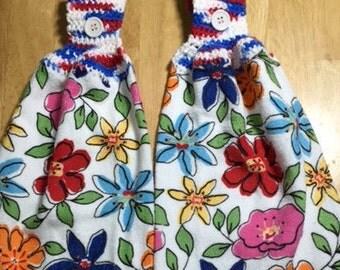 Flower Hanging  Towels2