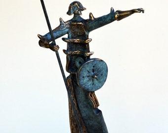 Don Quixote - Solid Bronze Sculpture - Knight Bronze Statue
