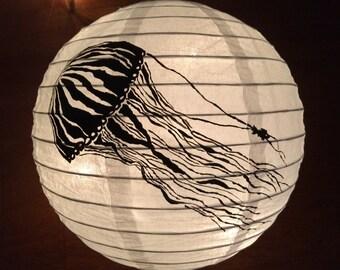 Hand Painted Paper lantern Jellyfish