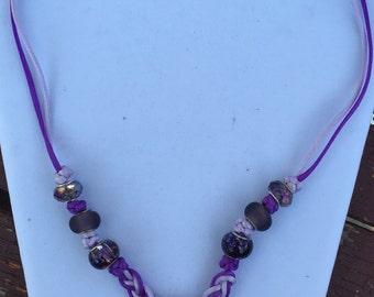 Celtic Lavender/Purple Guinevere Knot Necklace