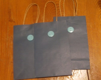 Blue button gift bags