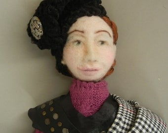 Needle Felted wall doll, Art Doll, Possibilities, Needle Felt