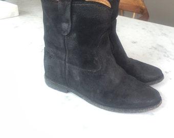 Isabel Marant Hidden Heel Suede Boots Sz 37
