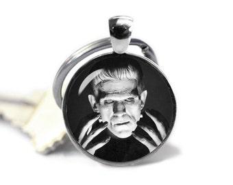 Frankenstein Key Ring Keychain Frankenstein  Keyfob Horror Fangirl Fanboy