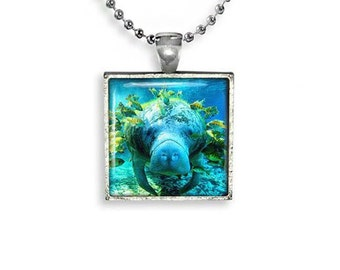 Manatee Necklace Manatee Pendant Manatee Jewelry Animals