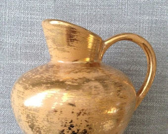 Stangl Granada Gold Hand Painted Pitcher - 4060