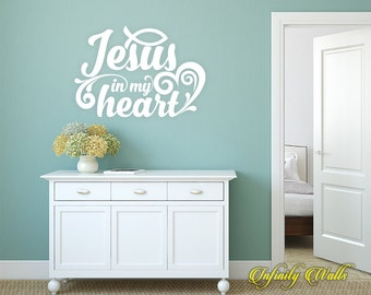 Religious Wall Decal Etsy - Wall decals christian