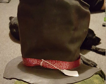Mad Hatter Leather Top Hat