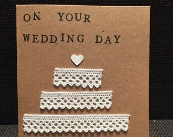 On Your Wedding Day Handmade Card