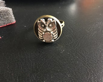 Owl Charm Ring