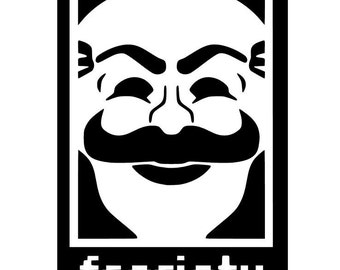 F Society insignia from 'Mr Robot' Vinyl Sticker