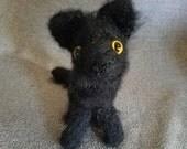 Crochet Cat - Long-haired Black