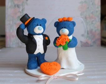 "Wedding bears ""Teddy"" cake topper"