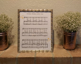 Twinkle Twinkle Little Star Sheet Music Digital Print Download