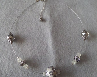 Glass and crystal Beaded Necklace